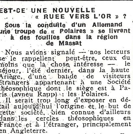 Article in La Depeche, March 6, 1932