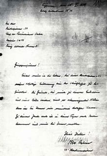 Resignation from SS by Otto Rahn
