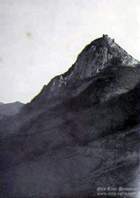 The Montsegur picture made by Otto Rahn