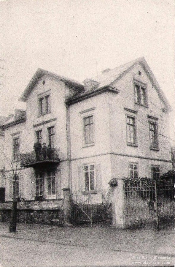 The new house in Michelstadt. Karl, Otto and Rudolph (circa 1908).