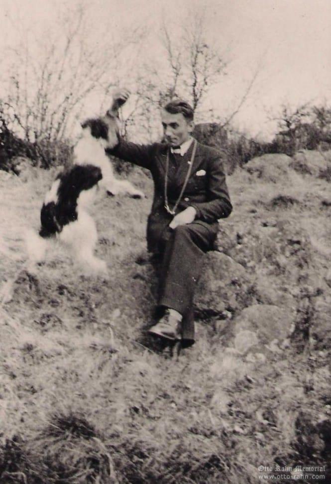 Otto Rahn with dog