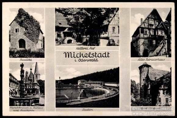 Marktplatz, Winery, Stadium, Basilika, Furstenau Castle - 1944