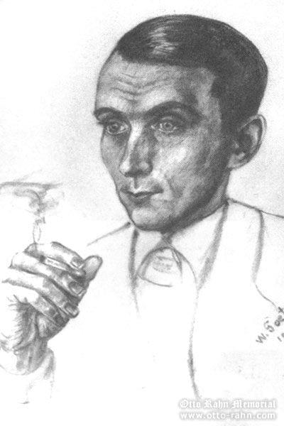 Portrait of Otto Rahn by Frau Hartnann (nee) Gotz, 1937