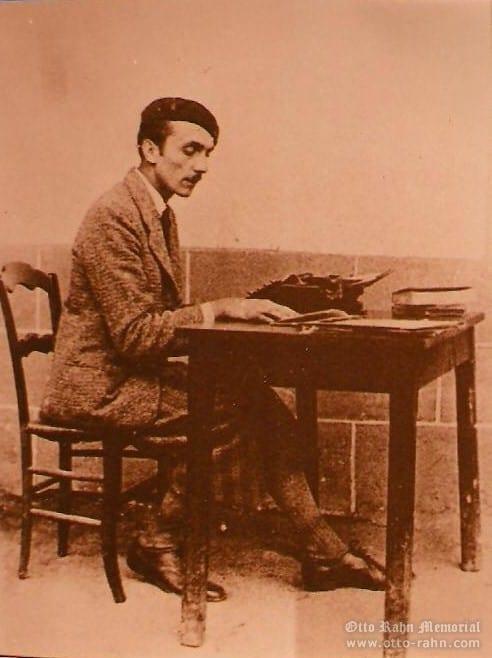 Otto Rahn at his writing desk, 1934