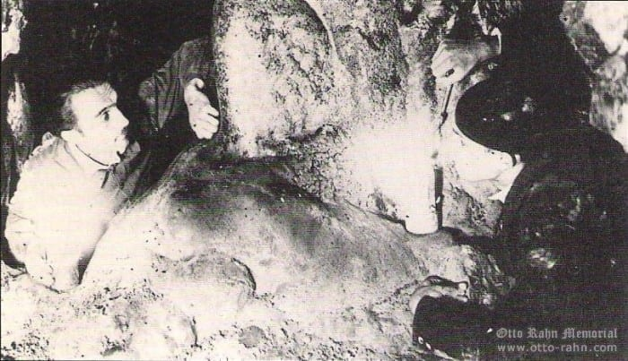 Otto Rahn in the cave of Hermit