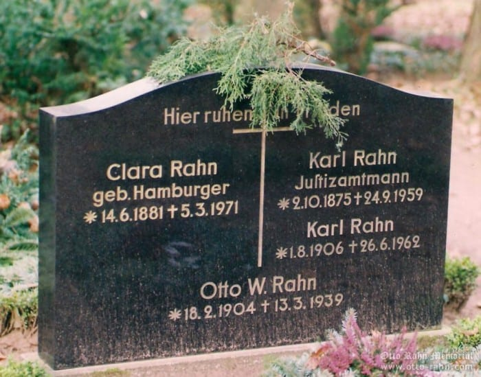 Rahns family grave in Darmstadt
