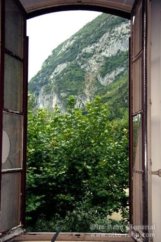 View from the Otto's living room in Ussat-les-Bains