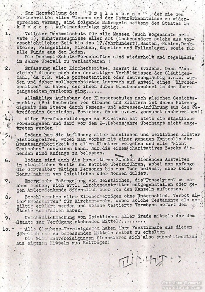 Rahn's letter to Wiligut, 27.9.1935 (page 2)