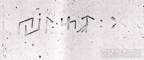 Runes from the Rahn's letter to Wiligut, 27.9.1935